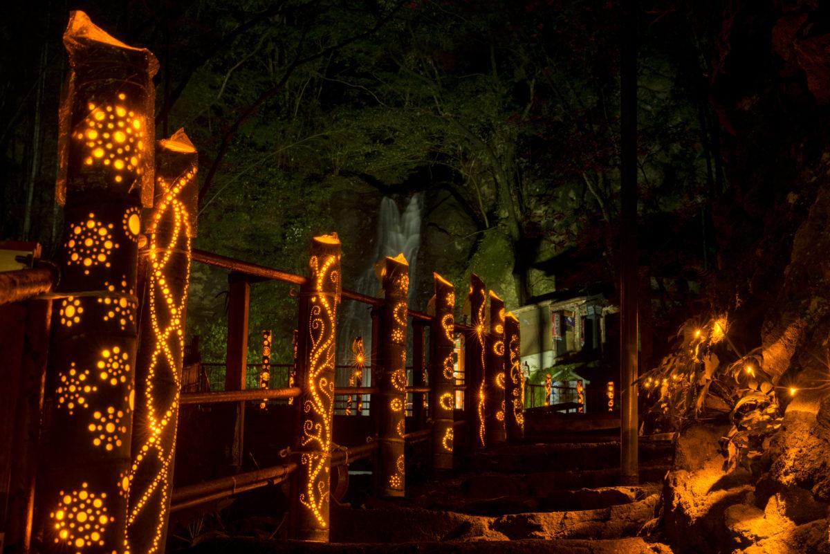【灯りの祭典】湯河原温泉で竹灯籠と花火を楽しむ秋の夜-2018年9月29日(土)