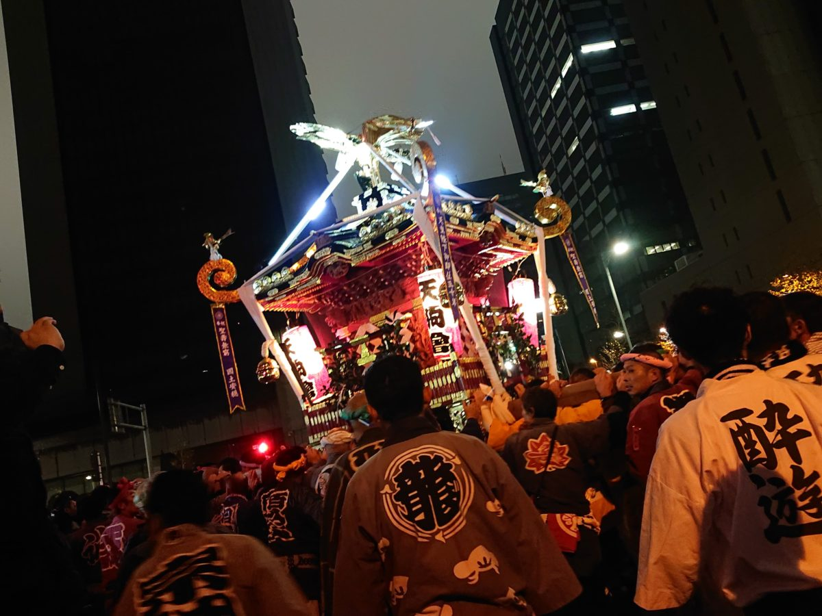 平成最後の天皇誕生日。「天長節奉祝祭」が開催され、日比谷公園に神輿・提灯行列が出現!