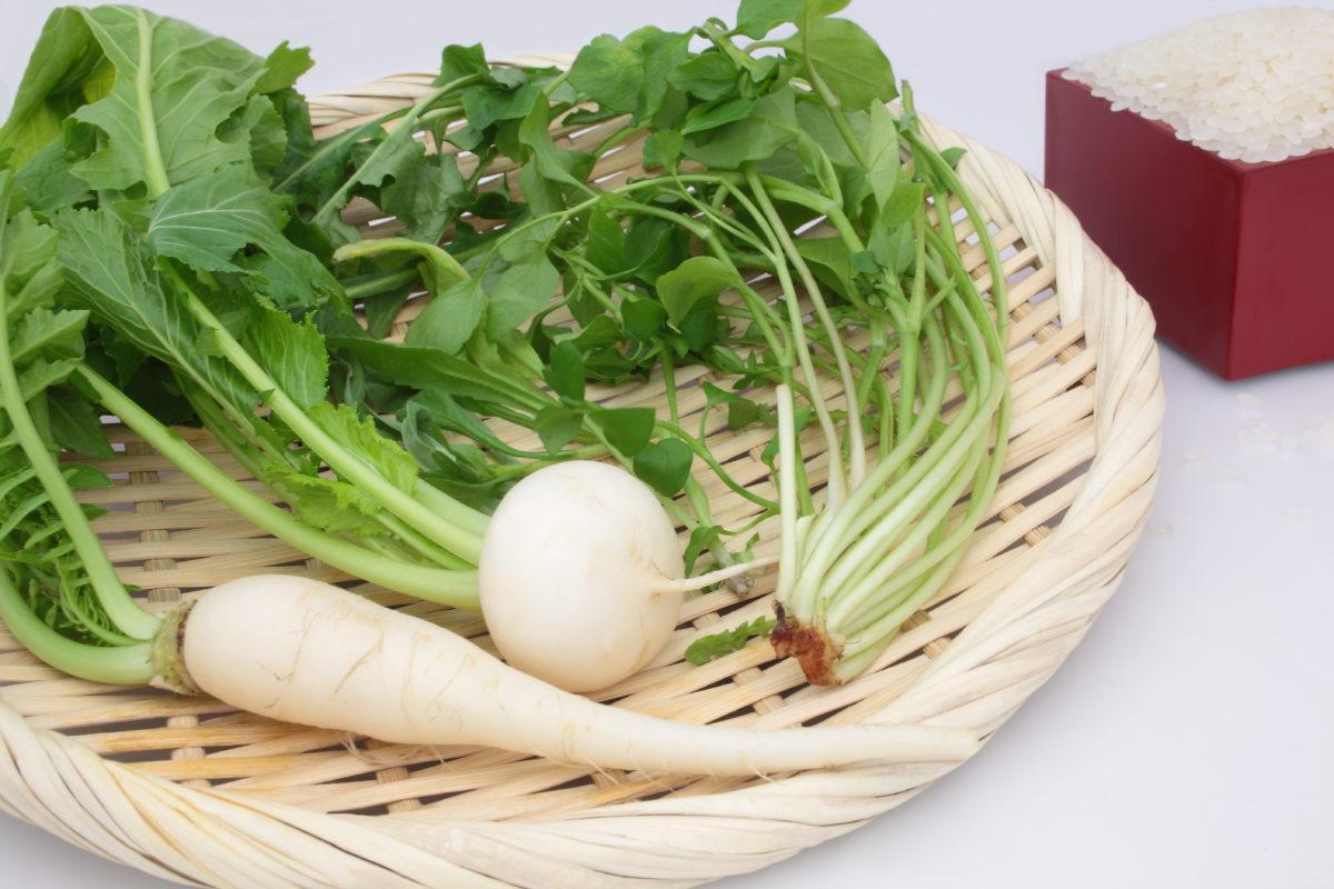 人日の節句に七草がゆ。健康に過ごせますように。