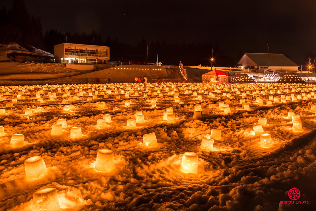 冬にホタル!?幻想的な光で魅了する「えちごかわぐち雪洞火ぼたる祭」