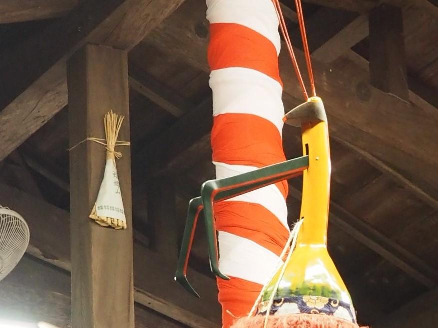 京の都と遠州森町と小田原の縁を繋いだカマキリ ~ 山名神社 祇園大祭 天王祭舞楽