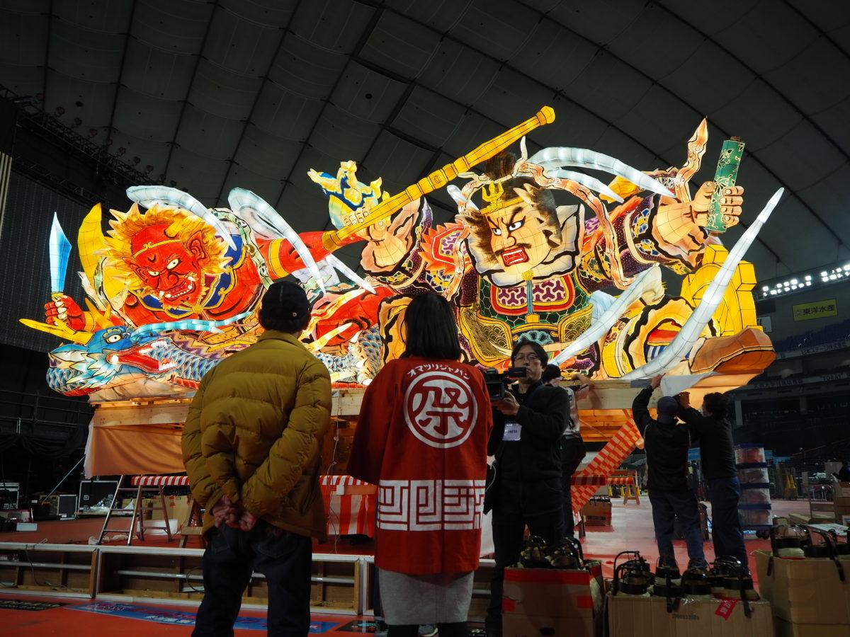 ふるさと祭り東京2020!ねぶたの組み立て現場に潜入!
