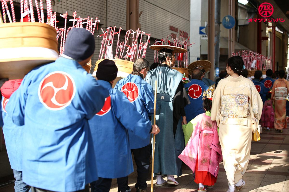 大阪野里住吉神社【一夜官女祭】泣き村の人身御供の祭