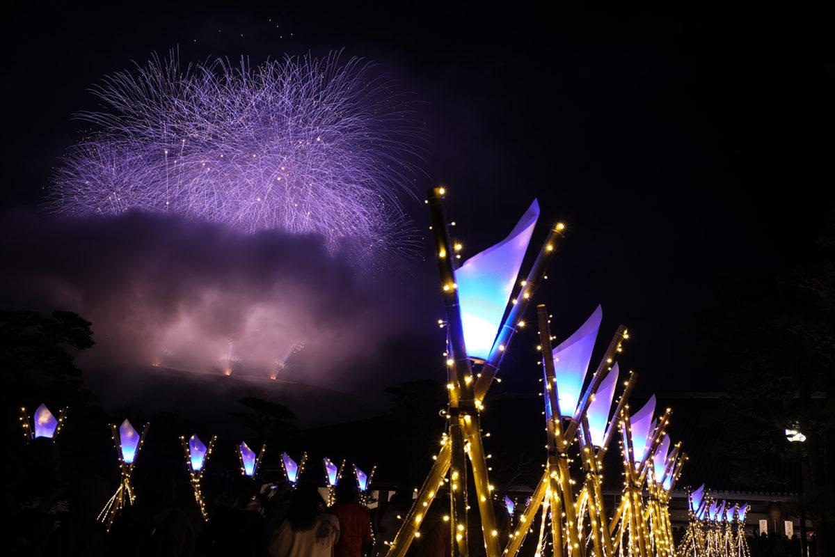 「なら瑠璃絵」東大寺、春日大社、興福寺のライトアップに夜神楽