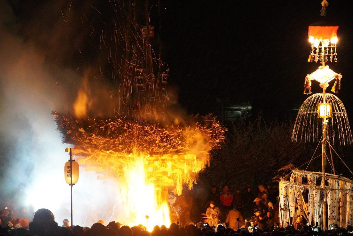 「野沢温泉道祖神祭り」厄払いの炎と恵の雪|観光経済新聞