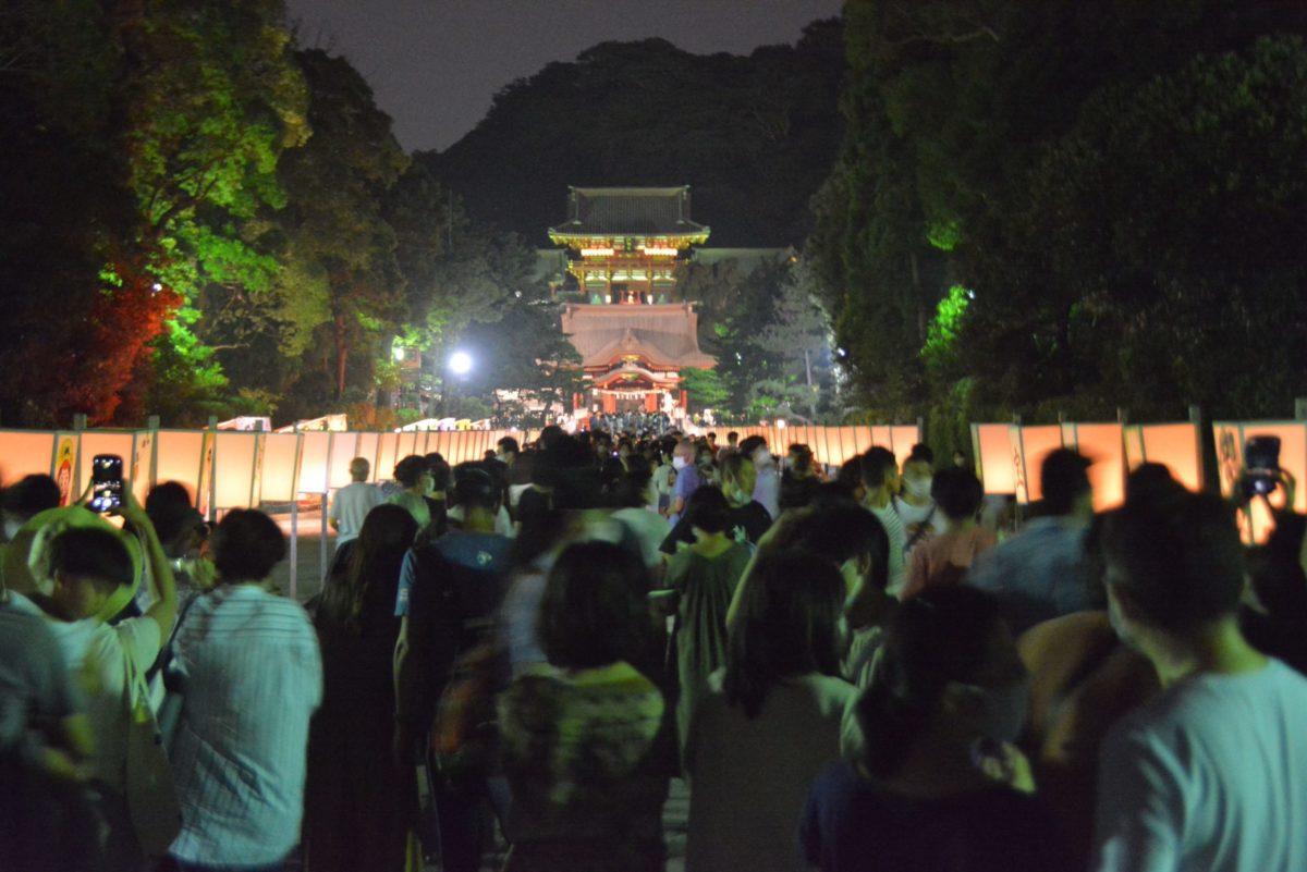 【ぼんぼり祭】古都鎌倉の立秋に夢幻の灯りで照らされる鶴岡八幡宮の境内