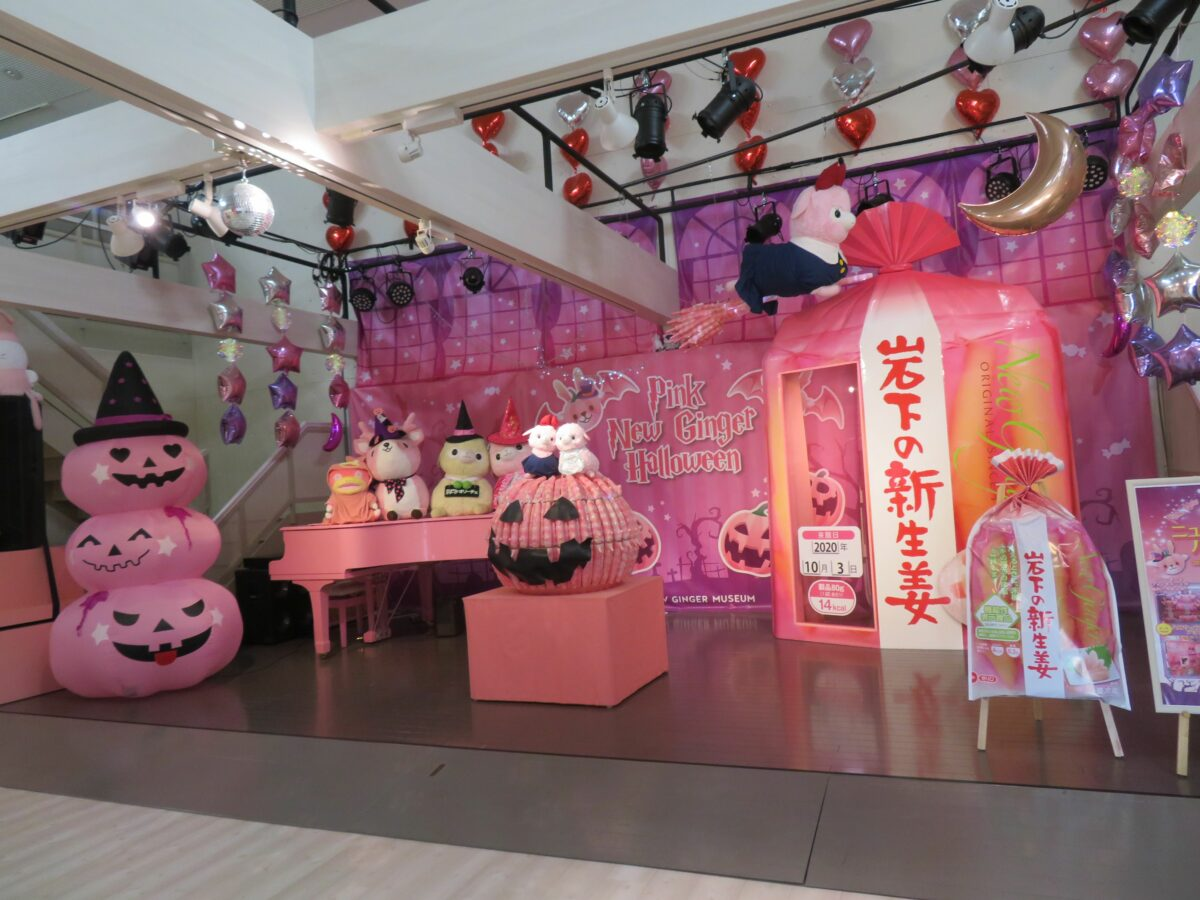 【ピンクニュージンジャーハロウィン】岩下の新生姜とカボチャのコラボ