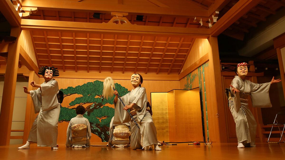「大津絵踊り」大津の花街発祥!お面の日本舞踊