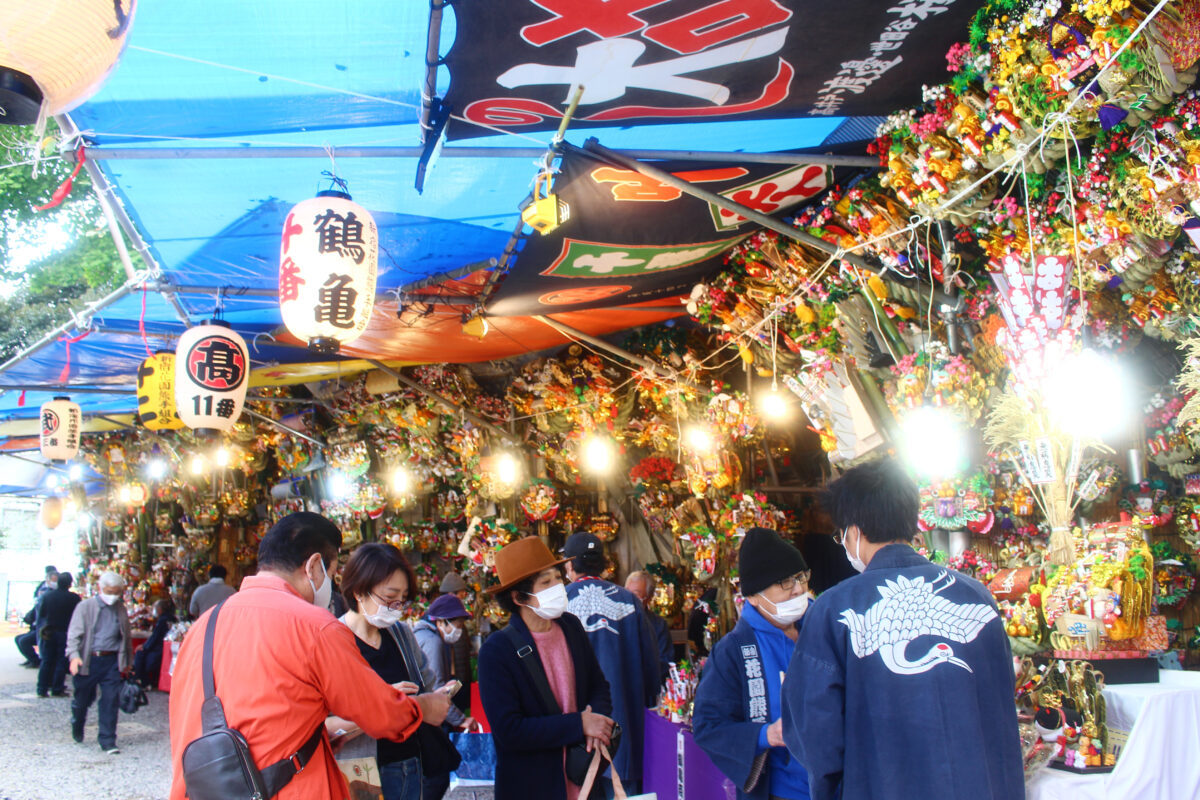 花園神社酉の市(大酉祭)2020、速報レポート