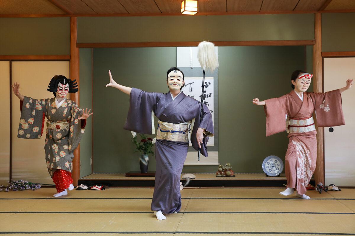 「大津絵踊り」大津の芸妓による曲解説!お面の日本舞踊は花街発祥
