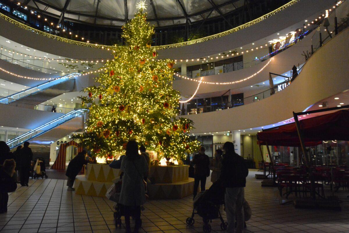 【横浜ベイクォータークリスマスサーカス】シャンパンスパークで輝くツリー