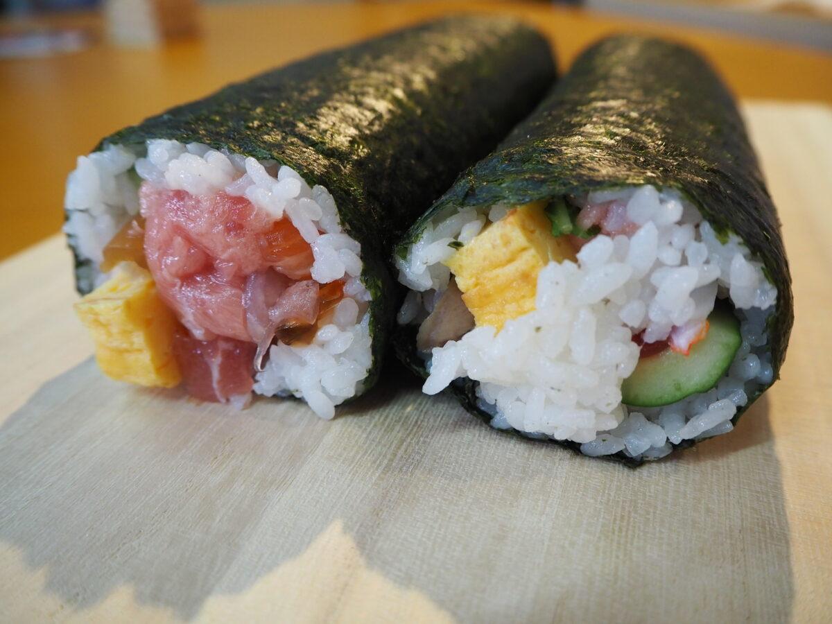 「すし銚子丸」の恵方巻は海鮮たっぷり!実食レポ‐2021年版