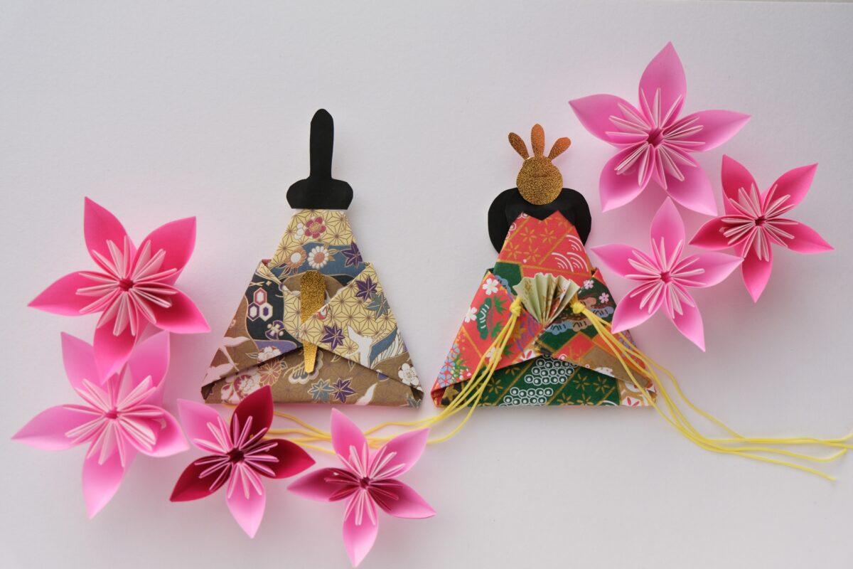 ひな祭りに折り紙を飾ろう!簡単カワイイお雛様の折り方を分かりやすく解説
