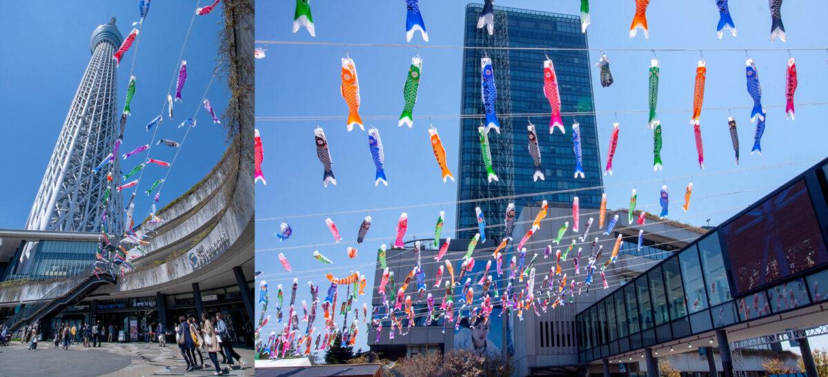 東京スカイツリータウンのGW・初夏イベント!約1,000匹のこいのぼりの群泳が圧巻!