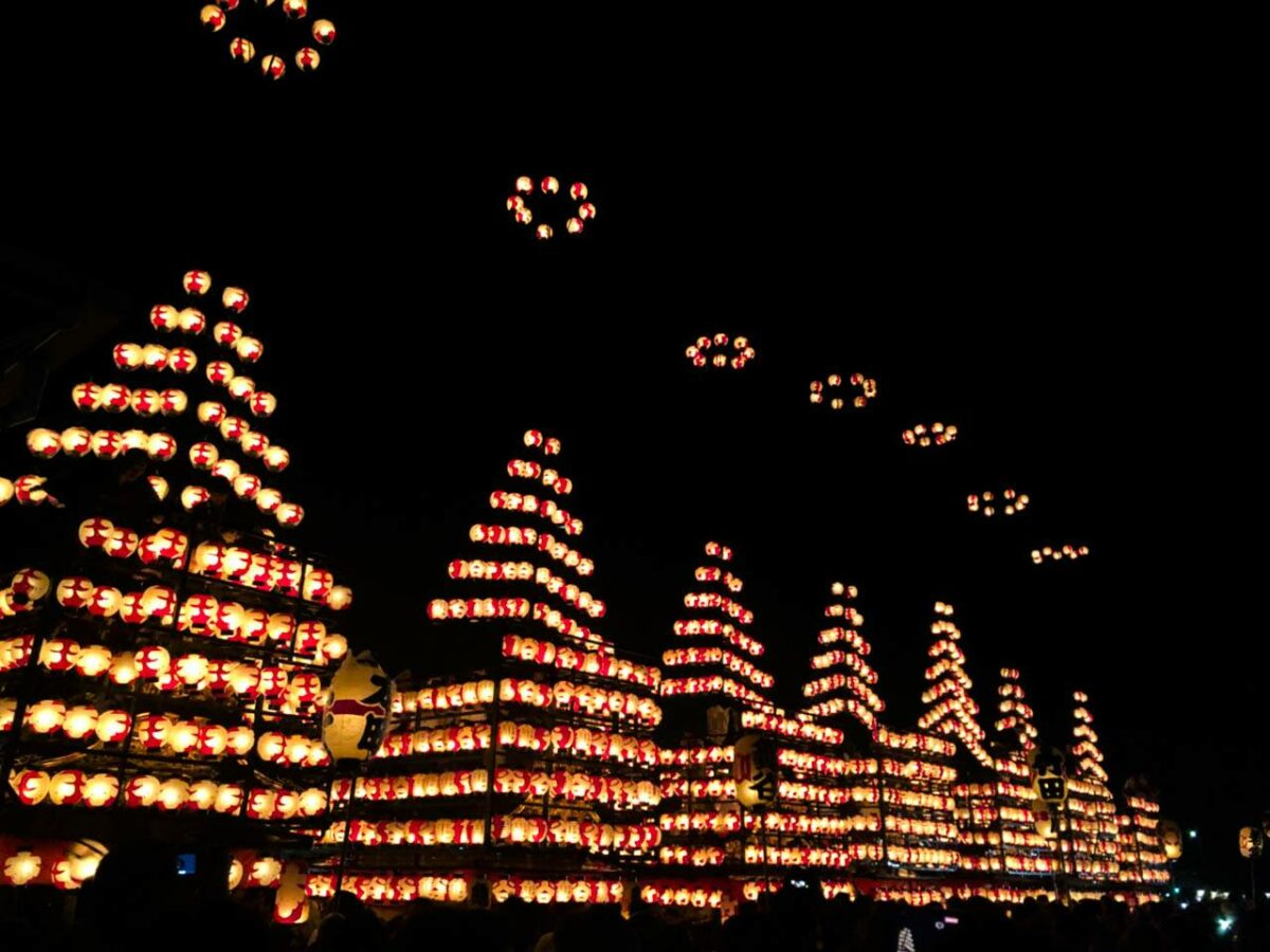 「二本松の提灯祭り」秋夜に浮かぶ幻想的な紅提灯 観光経済新聞