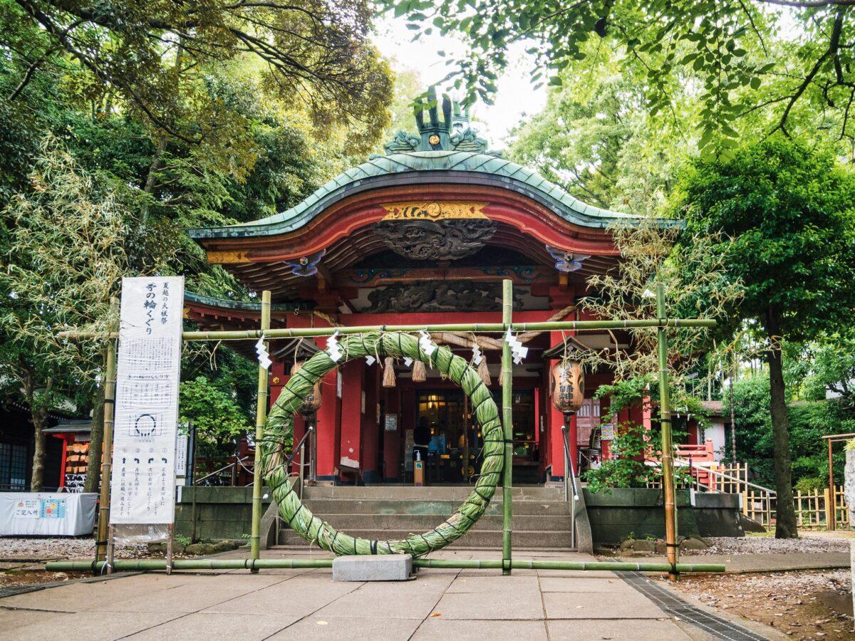 雪ヶ谷八幡神社、夏越大祓祭・茅の輪のくぐり方は?