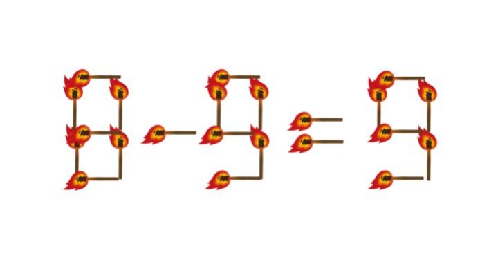 12秒で解けたら天才!? たいまつを一本動かして計算式を完成させよ!<お祭り脳トレ>