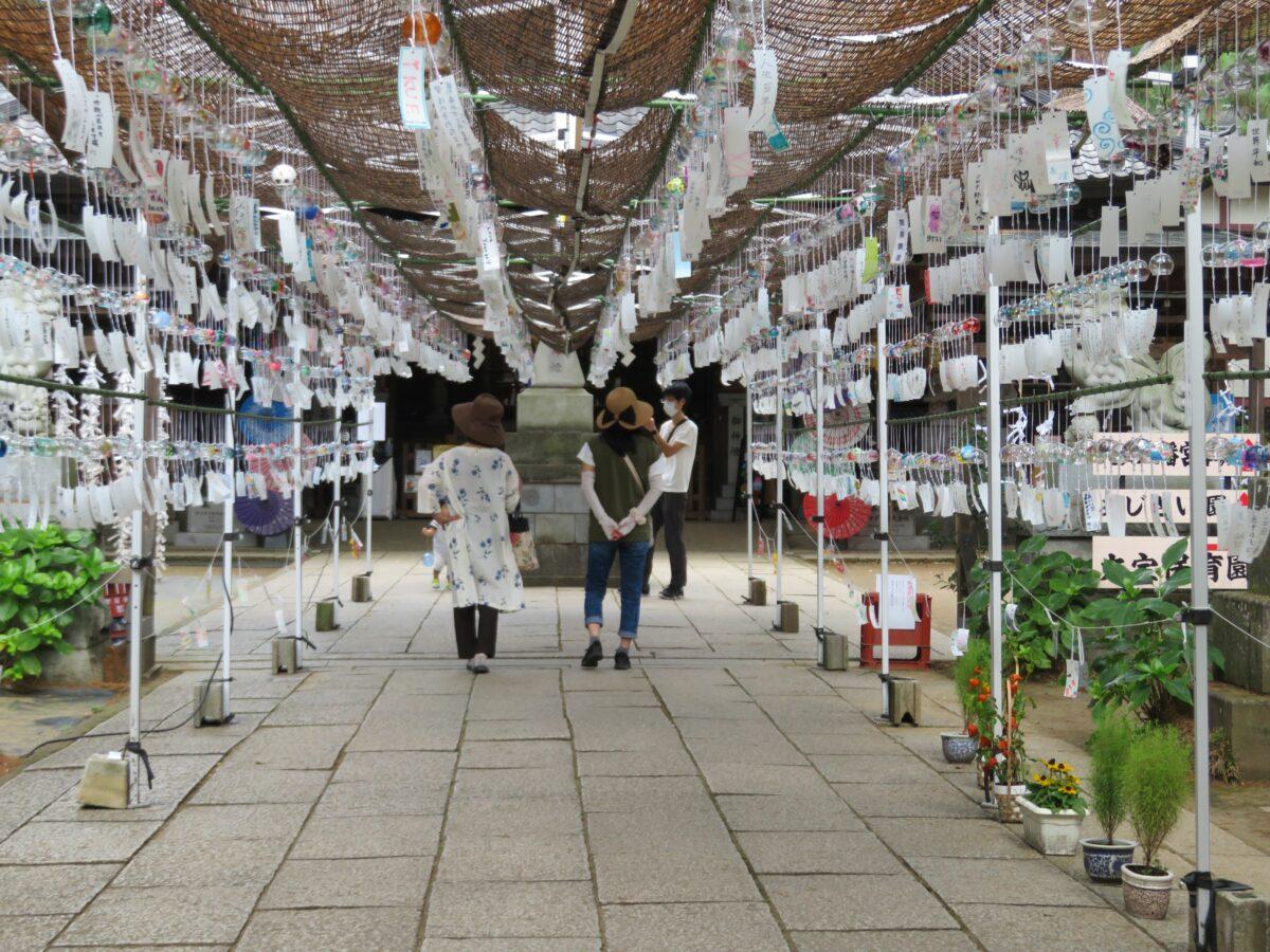 大宝八幡宮風鈴まつりが開催!下妻市の千古の社に涼感を運ぶ約1000個の風鈴