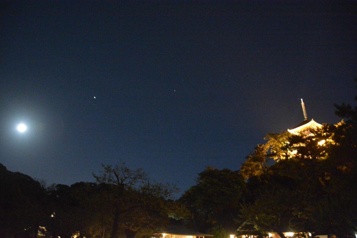 三渓園観月会が開催中!横浜で中秋の名月に和の情緒を添える伝統建築