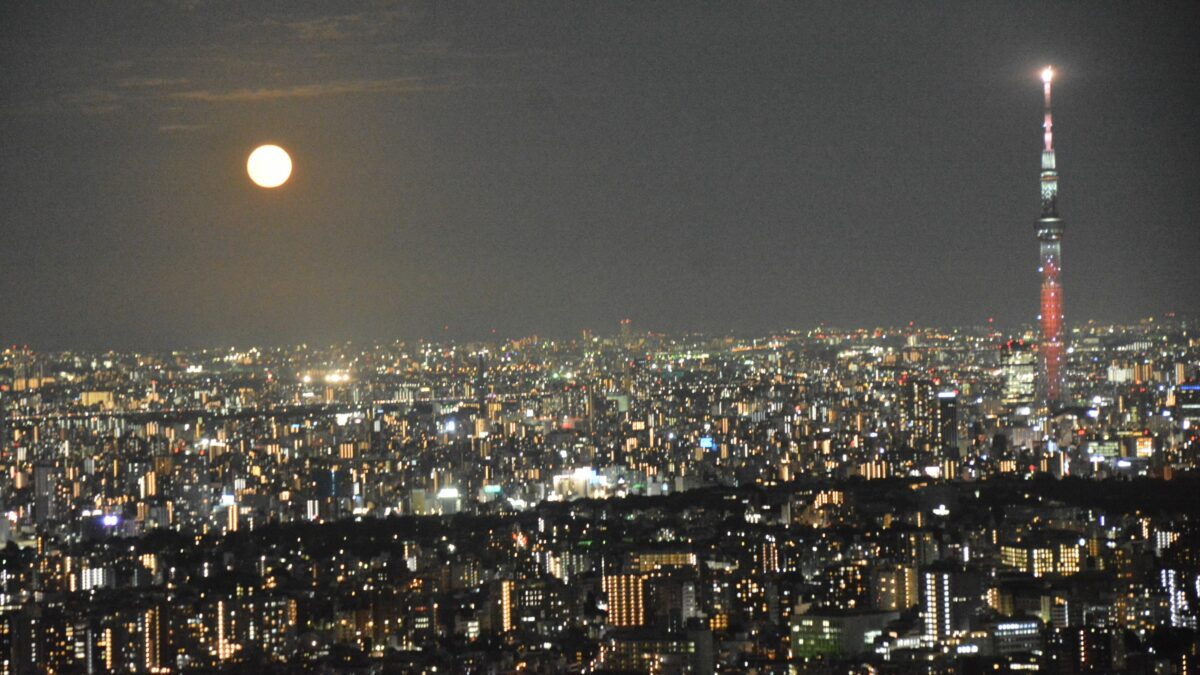 中秋の名月観賞会が開催される海抜約251メートルのサンシャイン60展望台